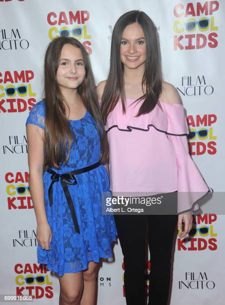 Actresses Ava Acres and Emily Hahn arrive for the Premiere Of Vision Films' 'Camp Cool Kids' held at AMC Universal City Walk on June 21 2017 in...