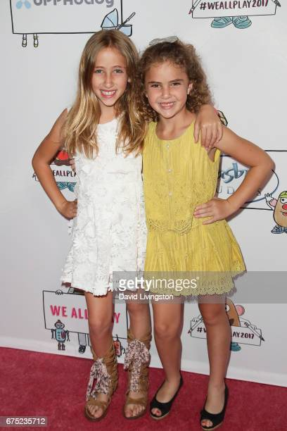 Actresses Ava Kolker and Lexy Kolker attend the WE ALL PLAY FUNdraiser hosted by the Zimmer Children's Museum at the Zimmer Children's Museum on...