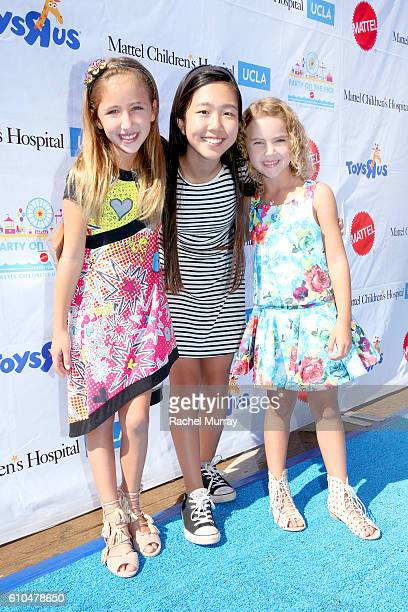 Actresses Ava Kolker Nina Lu and Lexi Kolker attend the 17th Annual Mattel Party on the Pier on September 25 2016 in Santa Monica California
