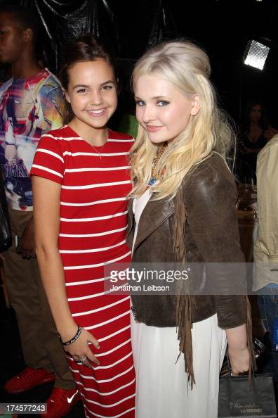 Actresses Bailee Madison and Abigail Breslin attend Variety's Power of Youth presented by Hasbro Inc and generationOn at Universal Studios Backlot on...