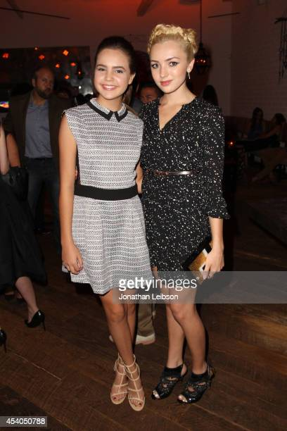 Actresses Bailee Madison and Peyton List attend Variety and Women in Film Emmy Nominee Celebration powered by Samsung Galaxy on August 23 2014 in...