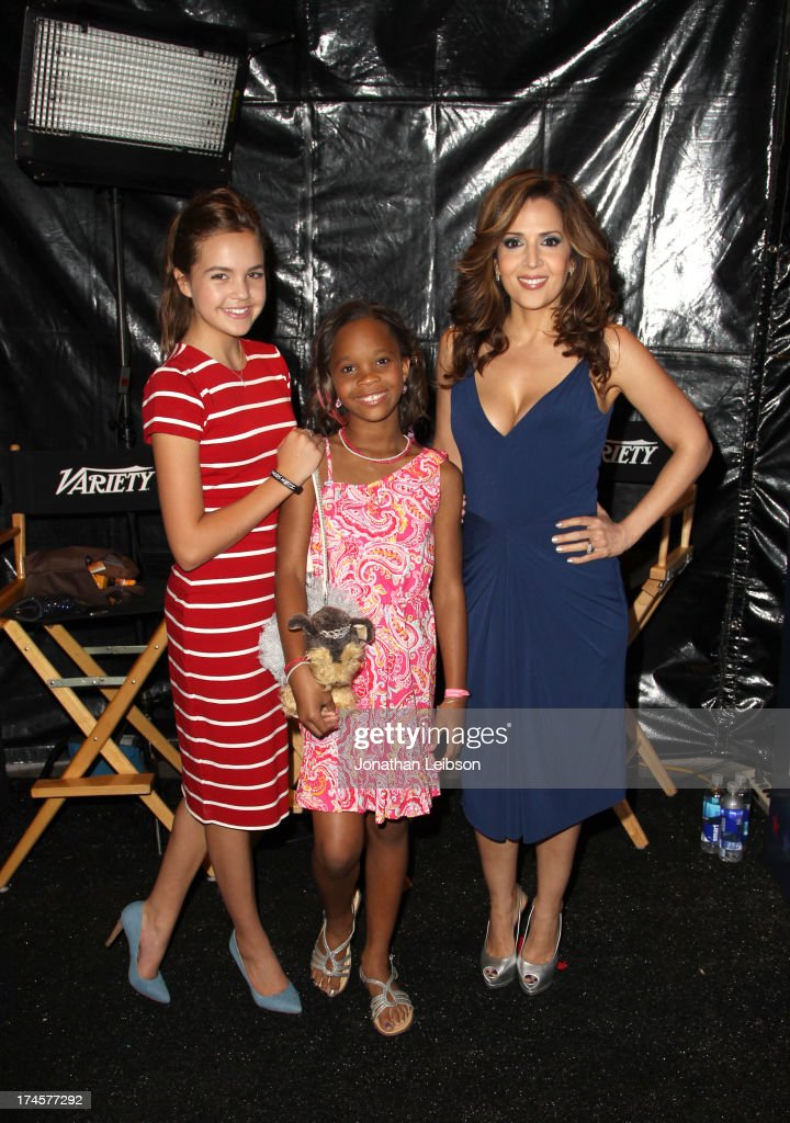 Actresses <a gi-track='captionPersonalityLinkClicked' href=/galleries/search?phrase=Bailee+Madison&family=editorial&specificpeople=4136620 ng-click='$event.stopPropagation()'>Bailee Madison</a>, Quvenzhane Wallis and <a gi-track='captionPersonalityLinkClicked' href=/galleries/search?phrase=Maria+Canals-Barrera&family=editorial&specificpeople=5397881 ng-click='$event.stopPropagation()'>Maria Canals-Barrera</a> attend Variety's Power of Youth presented by Hasbro, Inc. and generationOn at Universal Studios Backlot on July 27, 2013 in Universal City, California.