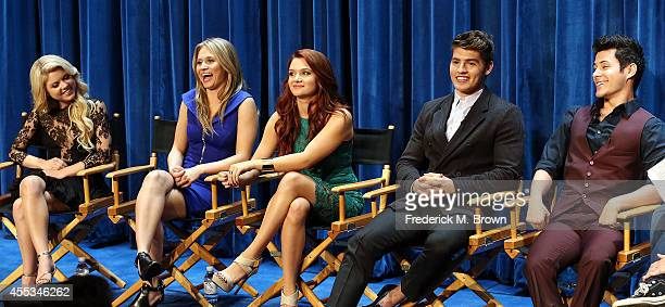 Actresses Bailey De Young Rita Volk and Katie Stevens and actors Greg Sulkin and Michael J Willett speak during The Paley Center for Media's...