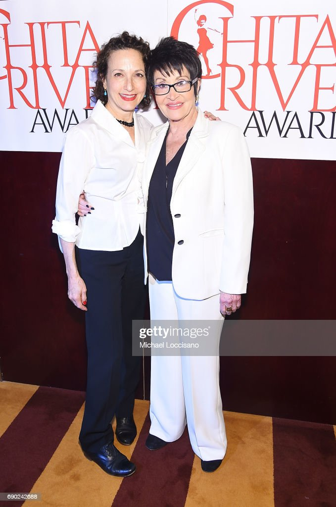 Actresses Bebe Neuwirth (L) and Chita Rivera attend the 2017 Chita Rivera Awards Nominees' Reception at The Lambs Club on May 30, 2017 in New York City.