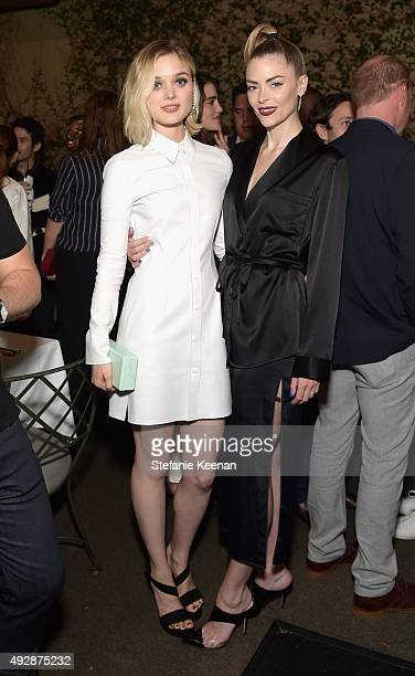 Actresses Bella Heathcote and Jaime King attend The Apartment by The Line LA opening on October 15 2015 in Los Angeles California