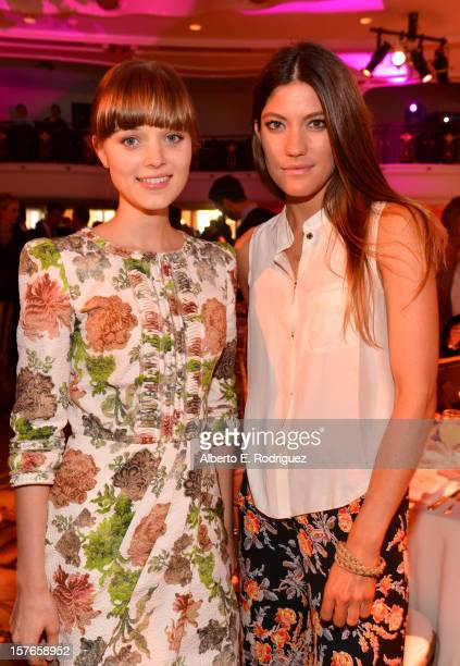 Actresses Bella Heathcote and Jennifer Carpenter attend The Hollywood Reporter's 'Power 100 Women In Entertainment' Breakfast at the Beverly Hills...