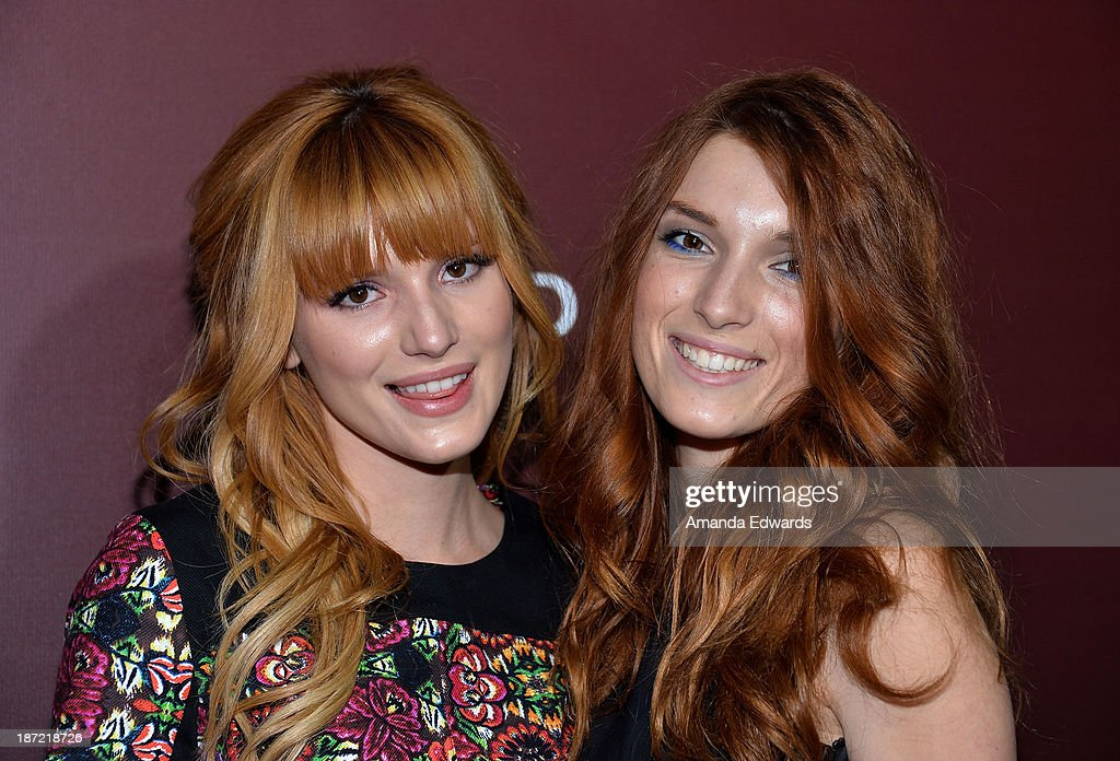 Actresses <a gi-track='captionPersonalityLinkClicked' href=/galleries/search?phrase=Bella+Thorne&family=editorial&specificpeople=5083663 ng-click='$event.stopPropagation()'>Bella Thorne</a> (L) and <a gi-track='captionPersonalityLinkClicked' href=/galleries/search?phrase=Dani+Thorne&family=editorial&specificpeople=5553373 ng-click='$event.stopPropagation()'>Dani Thorne</a> arrive at The Hollywood Reporter's Next Gen 20th Anniversary Gala at the Hammer Museum on November 6, 2013 in Westwood, California.