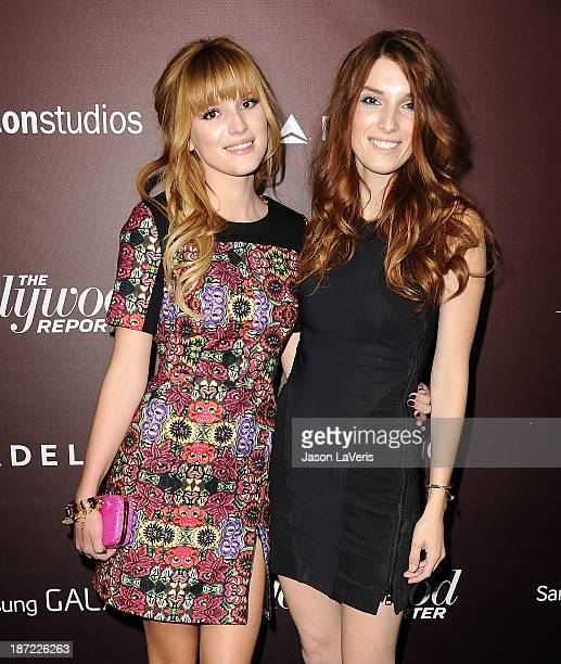 Actresses Bella Thorne and Dani Thorne attend The Hollywood Reporter's 'Next Gen' 20th anniversary gala at Hammer Museum on November 6 2013 in...
