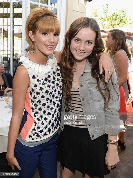 Actresses Bella Thorne and Maude Apatow attend Teen Vogue's BacktoSchool Saturday kickoff event at The Grove on August 9 2013 in Los Angeles...