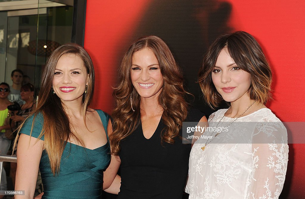 Actresses Bethany Joy Lenz, Kelly Overton and Katharine McPhee arrive at HBO's 'True Blood' season 6 premiere at ArcLight Cinemas Cinerama Dome on June 11, 2013 in Hollywood, California.