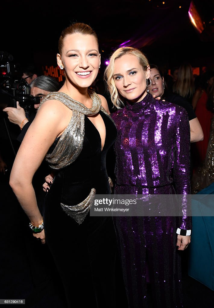 Actresses Blake Lively (L) and Diane Kruger attend The 2017 InStyle and Warner Bros. 73rd Annual Golden Globe Awards Post-Party at The Beverly Hilton Hotel on January 8, 2017 in Beverly Hills, California.