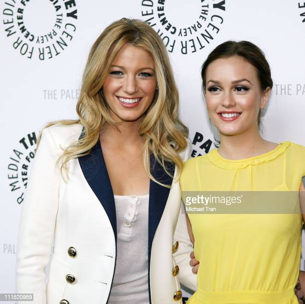 Actresses Blake Lively and Leighton Meester arrive at the 25th Annual Williams S Paley TV Festival featuring 'Gossip Girl' held at Arclight Cinemas...
