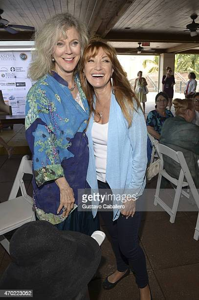 Actresses Blythe Danner and Jane Seymour attend 'Tea by the Sea Lunch and Conversation' during the 2015 Sarasota Film Festival on April 18 2015 in...