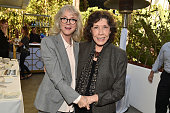 Actresses Blythe Danner and Lily Tomlin attend the photo call for 'Indie Contenders Roundtable presented by The Hollywood Reporter' during AFI FEST...