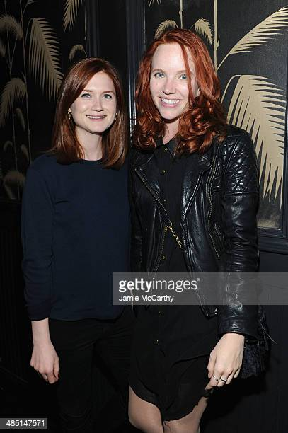 Actresses Bonnie Wright and Tamzin Merchant attend the Global Poverty Project and LDV Hospitality special event kicking off the 2014 Live Below the...