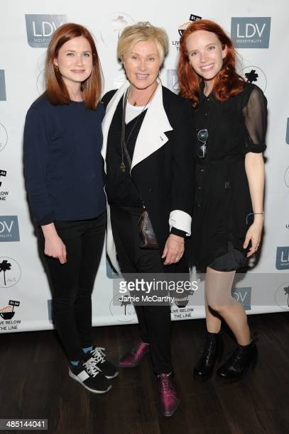 Actresses Bonnie Wright DeborraLee Furness and Tamzin Merchant attend the Global Poverty Project and LDV Hospitality special event kicking off the...