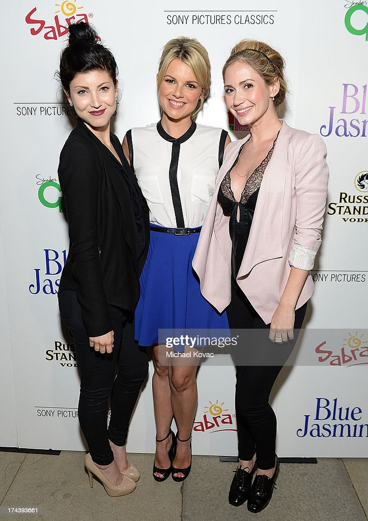 Actresses Briana Cuoco, Ali Fedotowsky and Ashley Jones attend the afterparty for AFI And Sony Picture Classics' Hosts The Premiere Of 'Blue Jasmine' on July 24, 2013 in Beverly Hills, California.