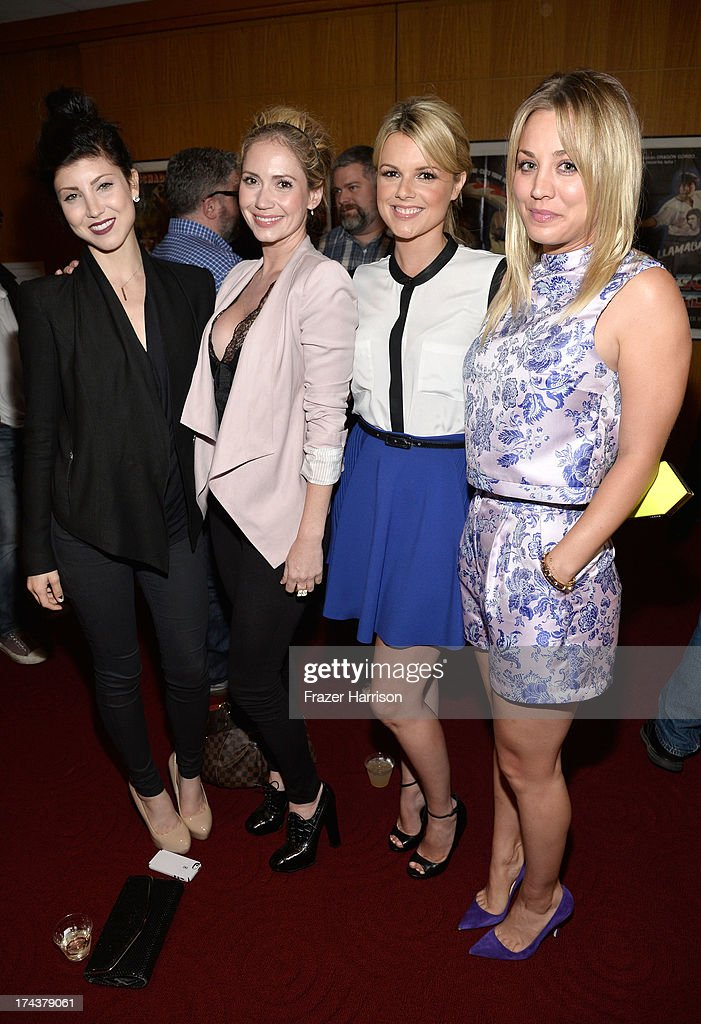 Actresses Briana Cuoco, Ashley Jones, Ali Fedotowsky and Kaley Cuoco attend the after party for the premiere of 'Blue Jasmine' hosted by AFI & Sony Picture Classics at AMPAS Samuel Goldwyn Theater on July 24, 2013 in Beverly Hills, California.