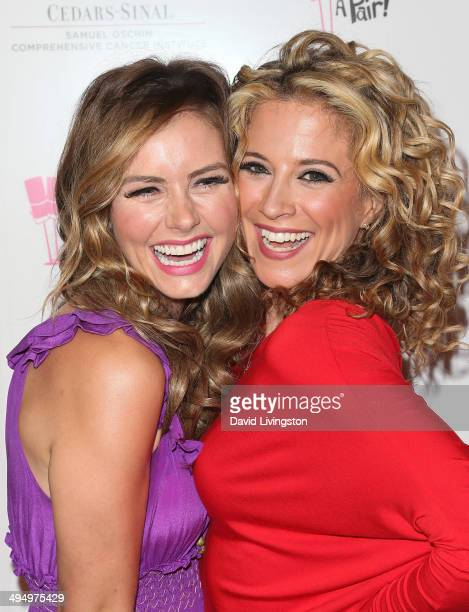 Actresses Brianna Brown and Alexis Carra attend the 10th anniversary What A Pair benefit concert at the Saban Theatre on May 31 2014 in Beverly Hills...