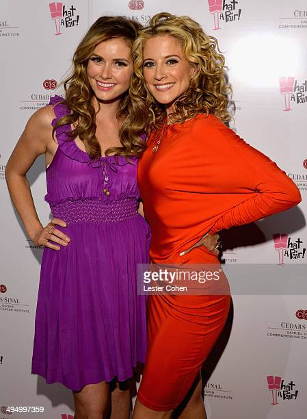 Actresses Brianna Brown and Alexis Carra attended the What A Pair Benefit Concert to support breast cancer research education programs at the...