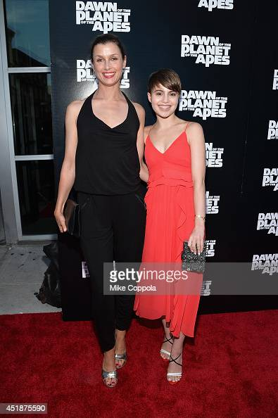 Actresses Bridget Moynahan and Sami Gayle attend the 'Dawn Of The Planets Of The Apes' premiere at Williamsburg Cinemas on July 8 2014 in New York...