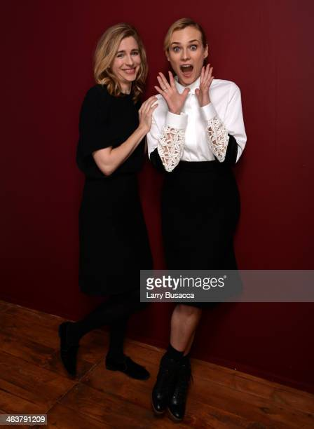 Actresses Brit Marling and Diane Kruger pose for a portrait during the 2014 Sundance Film Festival at the WireImage Portrait Studio at the Village At...