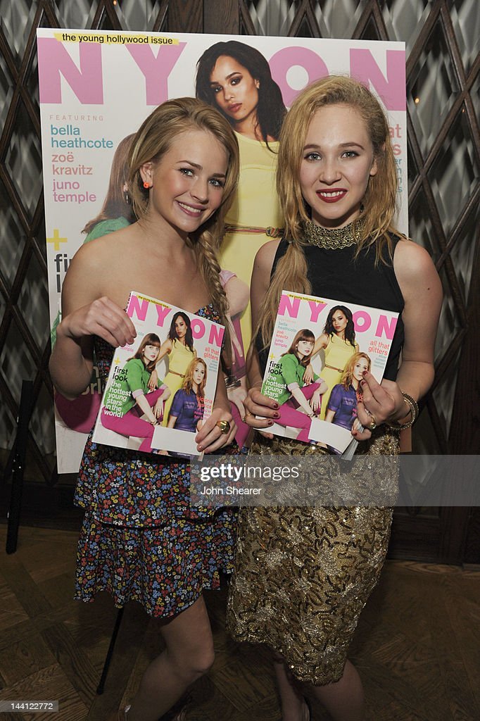 Actresses <a gi-track='captionPersonalityLinkClicked' href=/galleries/search?phrase=Britt+Robertson&family=editorial&specificpeople=5445686 ng-click='$event.stopPropagation()'>Britt Robertson</a> and <a gi-track='captionPersonalityLinkClicked' href=/galleries/search?phrase=Juno+Temple&family=editorial&specificpeople=4692912 ng-click='$event.stopPropagation()'>Juno Temple</a> attend NYLON Magazine And Tommy Girl Celebrate The Annual May Young Hollywood Issue - Dinner at Hollywood Roosevelt Hotel on May 9, 2012 in Hollywood, California.