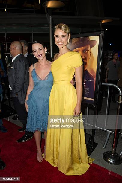 Actresses Britt Robertson and Lucy Fry attend the premiere of Cinelou Releasing's 'Mr Church' at ArcLight Hollywood on September 6 2016 in Hollywood...
