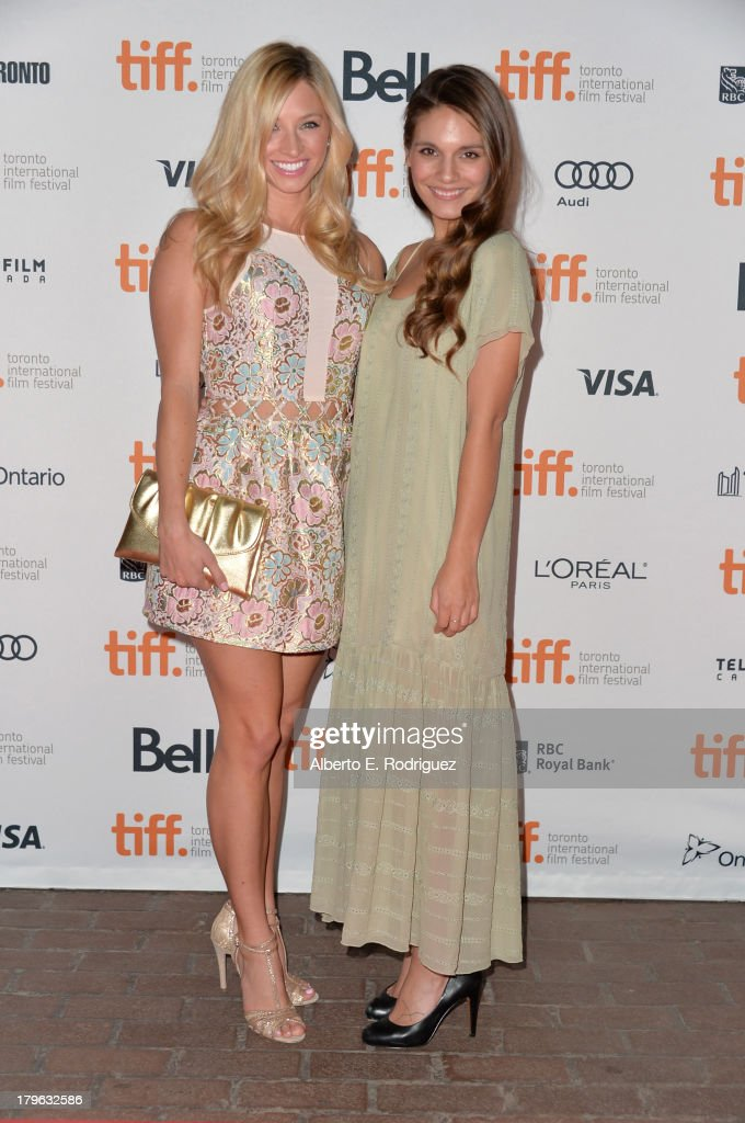 Actresses Brooke Butler and Caitlin Stasey arrive at the 'All Cheerleaders Die' premiere during the 2013 Toronto International Film Festival at...