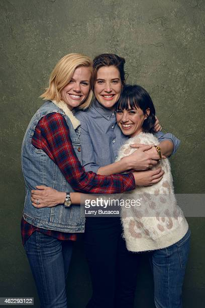 Actresses Brooklyn Decker Cobie Smulders and Constance Zimmer of 'Results' pose for a portrait at the Village at the Lift Presented by McDonald's...