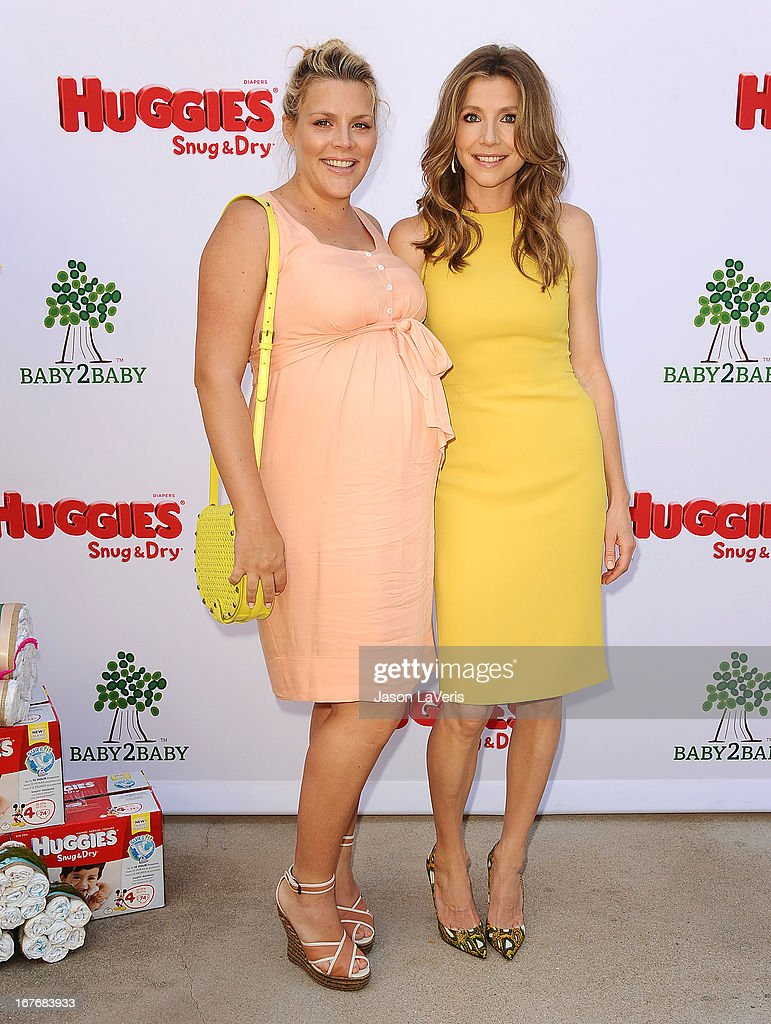Actresses Busy Philipps and Sarah Chalke attend the Baby2Baby Mother's Day garden party on April 27, 2013 in Los Angeles, California.