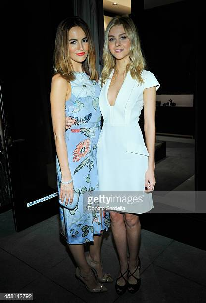 Actresses Camilla Belle and Nicola Peltz attend a cocktail party hosted by Gucci's Frida Giannini and Patrizio Di Marco to celebrate the new Beverly...