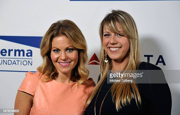 Actresses Candace Cameron Bure and Jodie Sweetin attend the 'Cool Comedy Hot Cuisine Event To Benefit The Scleroderma Research Foundation' event at...