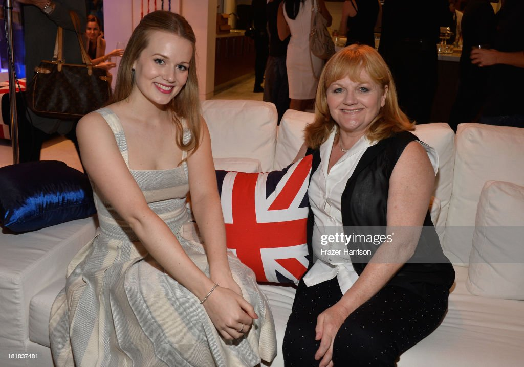 Actresses Cara Theobold and Lesley Nicol attend British Airways and Variety Celebrate The Inaugural A380 Service Direct from Los Angeles to London and Discover Variety's 10 Brits to Watch on September 25, 2013 in Los Angeles, California.