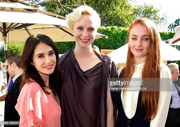 Actresses Carice van Houten Gwendoline Christie and Sophie Turner attend the 2015 BAFTA Los Angeles TV Tea at SLS Hotel on September 19 2015 in...