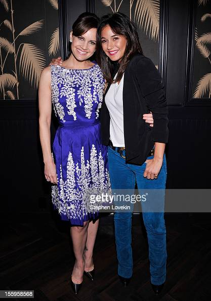 Actresses Carla Gugino and Emmanuelle Chriqui attend the after party for a screening Of 'Hotel Noir' hosted by The Cinema Society and Gato Negro...