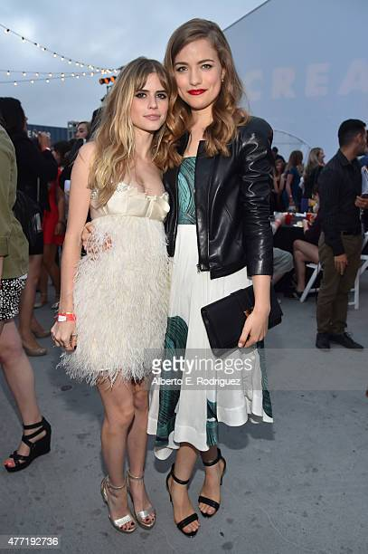 Actresses Carlson Young and Willa Fitzgerald attend the MTV and Dimension TV premiere of 'Scream' at the Los Angeles Film Festival on June 14 2015 in...