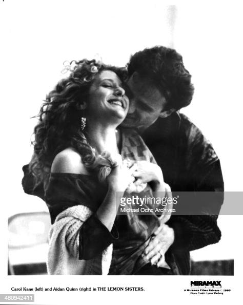 Actresses Carol Kane and actor Aidan Quinn in a scene from the Miramax movie 'The Lemon Sisters' circa 1989
