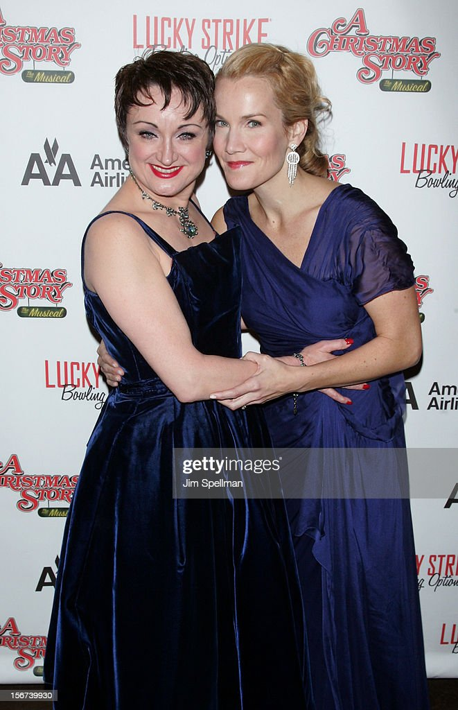 Actresses Caroline O'Connor and and Erin Dilly attend 'A Christmas Story: The Musical' Broadway opening night after party on November 19, 2012 in New York City.