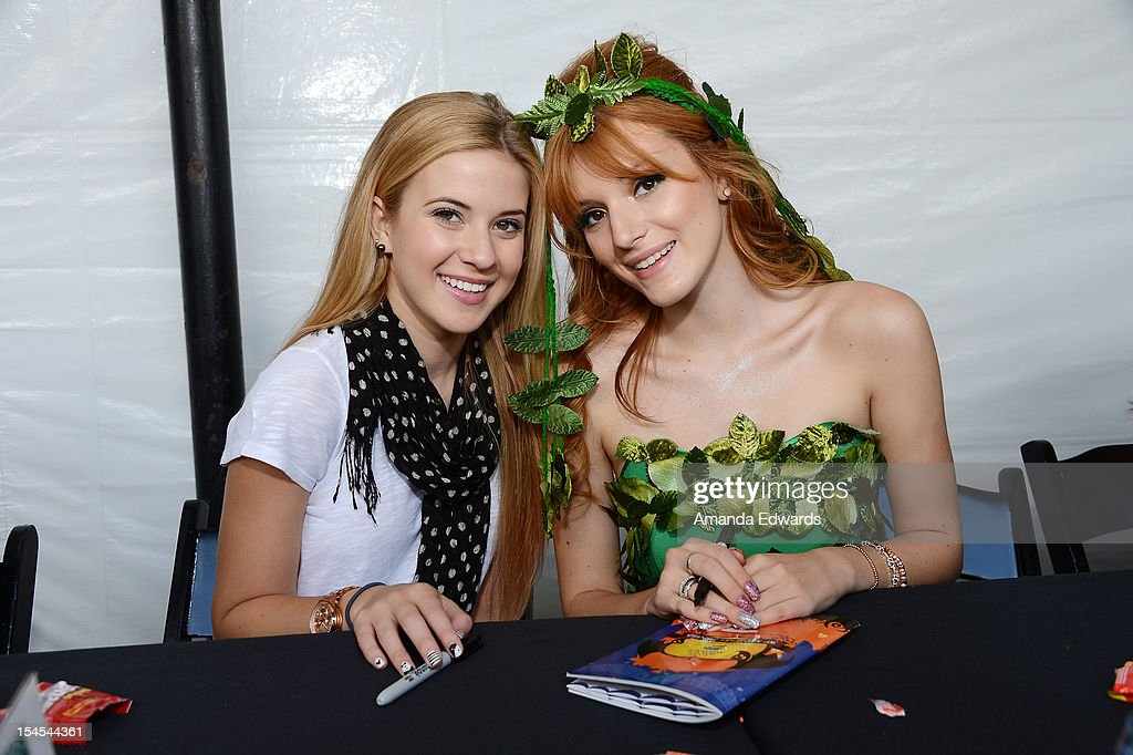 Actresses Caroline Sunshine (L) and <a gi-track='captionPersonalityLinkClicked' href=/galleries/search?phrase=Bella+Thorne&family=editorial&specificpeople=5083663 ng-click='$event.stopPropagation()'>Bella Thorne</a> attend the Camp Ronald McDonald For Good Times 20th Annual Halloween Carnival at Universal Studios Backlot on October 21, 2012 in Universal City, California.