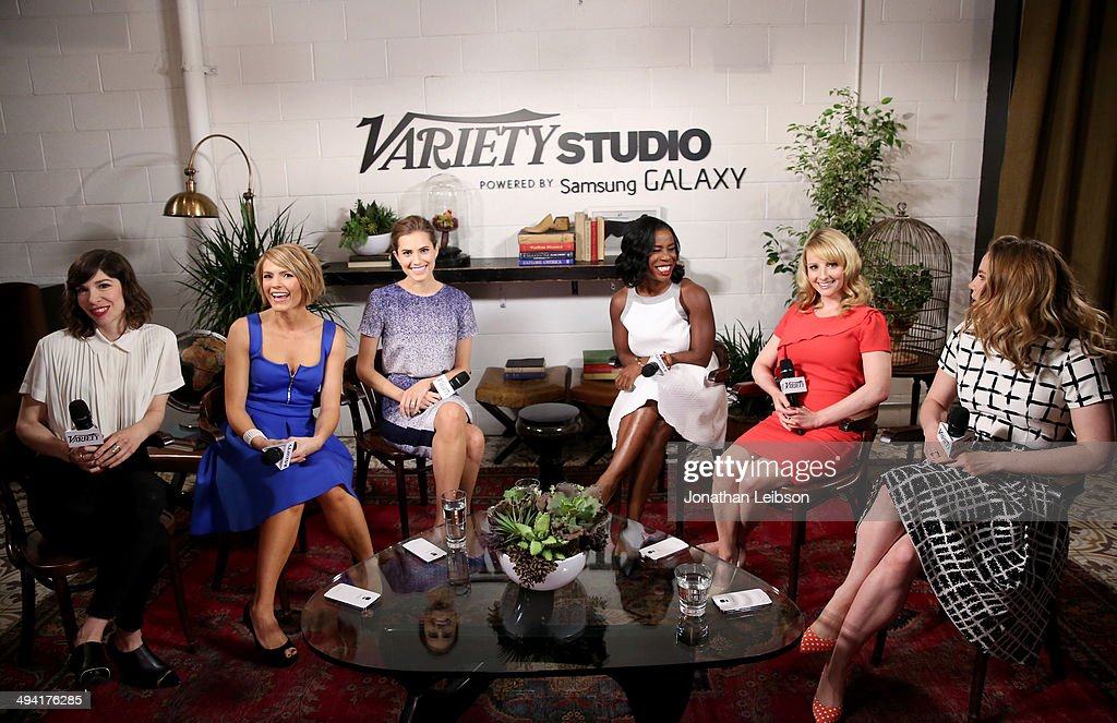 Actresses Carrie Brownstein Kathleen Rose Perkins Allison Williams Uzo Aduba Melissa Rauch and Anna Chlumsky attend the Variety Studio powered by...