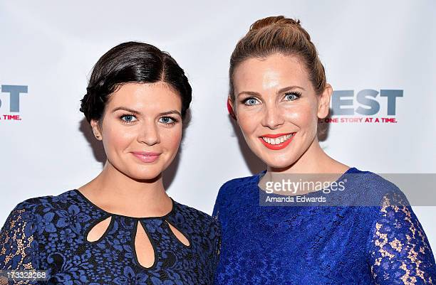 Actresses Casey Wilson and June Diane Raphael arrive at the 2013 Outfest Opening Night Gala of COG at The Orpheum Theatre on July 11 2013 in Los...