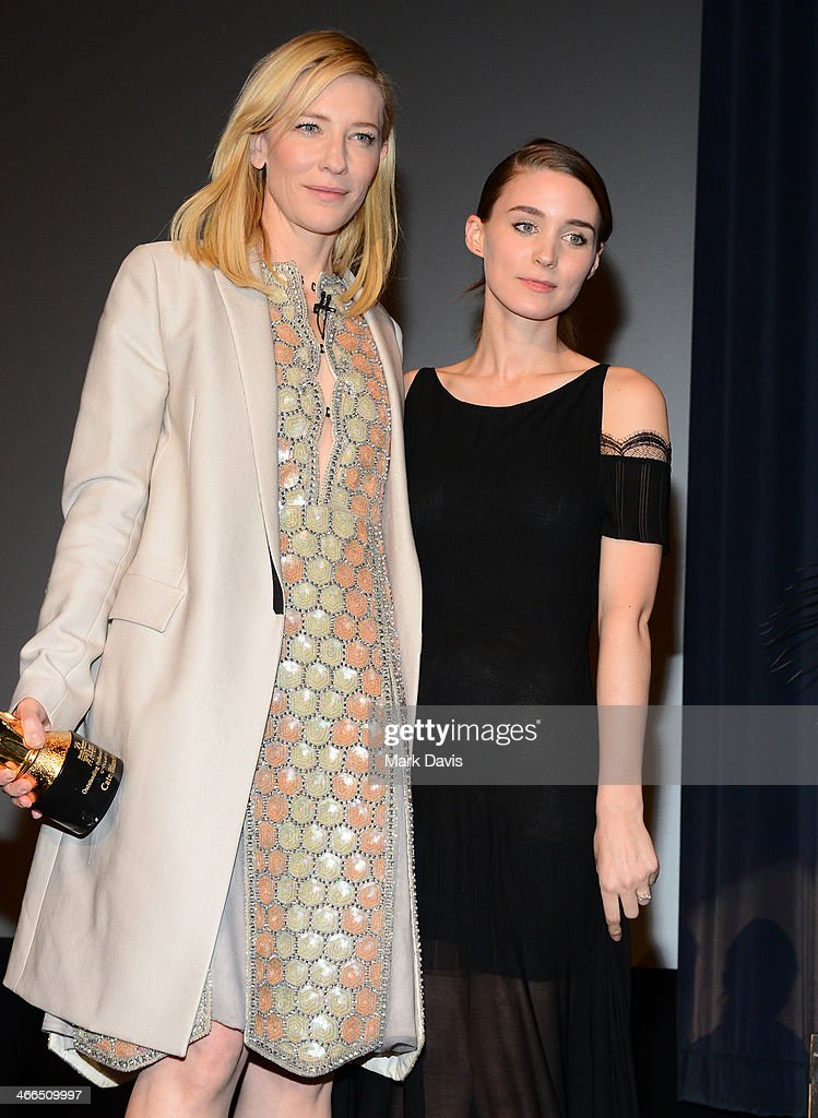 Actresses <a gi-track='captionPersonalityLinkClicked' href=/galleries/search?phrase=Cate+Blanchett&family=editorial&specificpeople=201621 ng-click='$event.stopPropagation()'>Cate Blanchett</a> and <a gi-track='captionPersonalityLinkClicked' href=/galleries/search?phrase=Rooney+Mara&family=editorial&specificpeople=5669181 ng-click='$event.stopPropagation()'>Rooney Mara</a> attend the 29th Santa Barbara International Film Festival outstanding performer of the year award on February 1, 2014 in Santa Barbara, California.