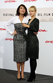 Actresses Caterina Murino and Mena Suvari attends the 'The Garden Of Eden' photocall during the 3rd Rome International Film Festival held at the...
