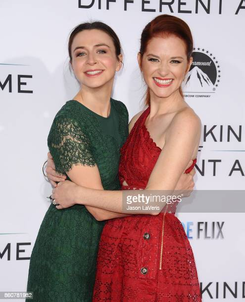Actresses Caterina Scorsone and Sarah Drew attend the premiere of 'Same Kind of Different as Me' at Westwood Village Theatre on October 12 2017 in...