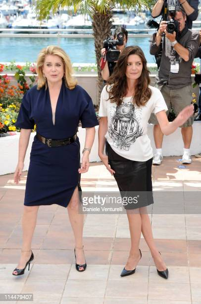 Actresses Catherine Deneuve and Chiara Mastroianni attend the 'Les BienAimes' Photocall during the 64th Cannes Film Festival at the Palais des...