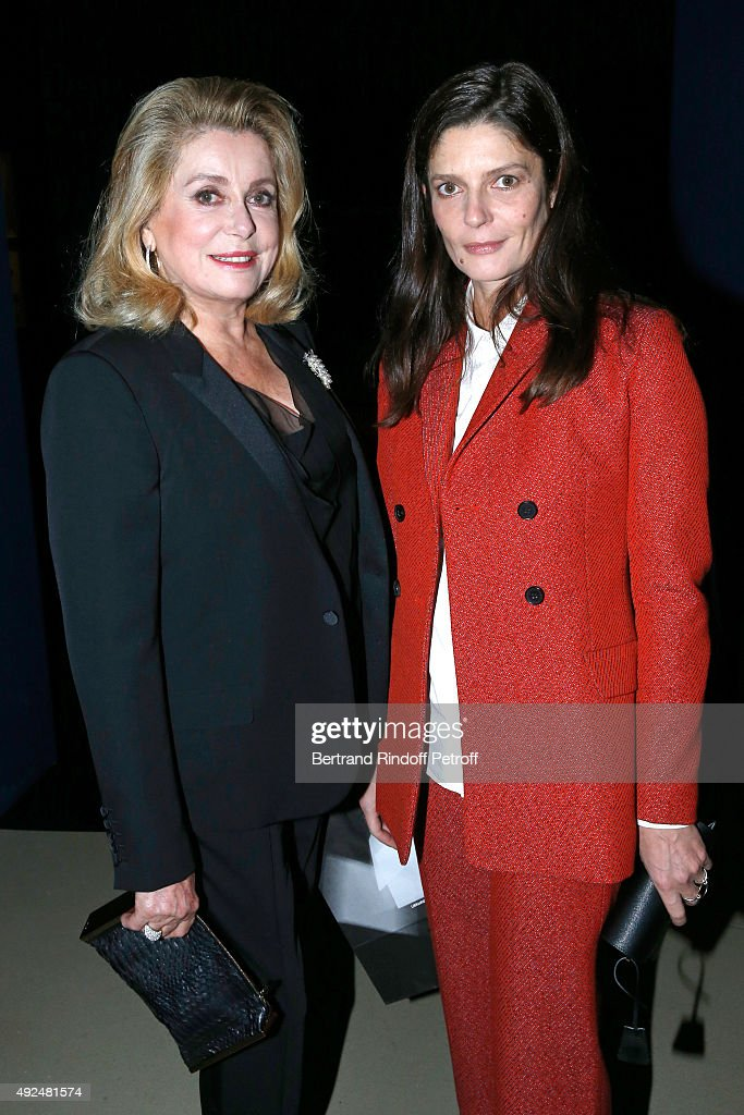 Actresses <a gi-track='captionPersonalityLinkClicked' href=/galleries/search?phrase=Catherine+Deneuve&family=editorial&specificpeople=123833 ng-click='$event.stopPropagation()'>Catherine Deneuve</a> and her daughter <a gi-track='captionPersonalityLinkClicked' href=/galleries/search?phrase=Chiara+Mastroianni&family=editorial&specificpeople=619517 ng-click='$event.stopPropagation()'>Chiara Mastroianni</a> attend the Tribute to Director Martin Scorsese at Cinematheque Francaise on October 13, 2015 in Paris, France.