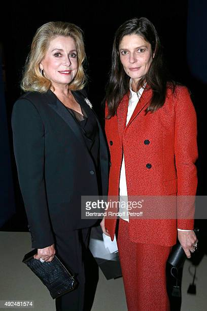 Actresses Catherine Deneuve and her daughter Chiara Mastroianni attend the Tribute to Director Martin Scorsese at Cinematheque Francaise on October...