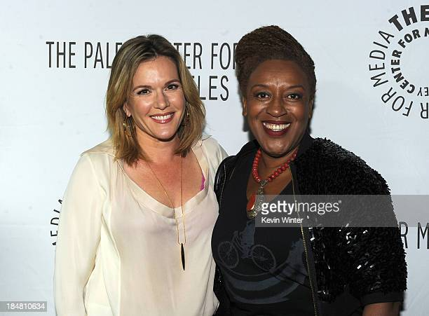 Actresses Catherine Dent and CCH Pounder arrive at The Paley Center for Media's 2013 benefit gala honoring FX Networks with the Paley Prize for...