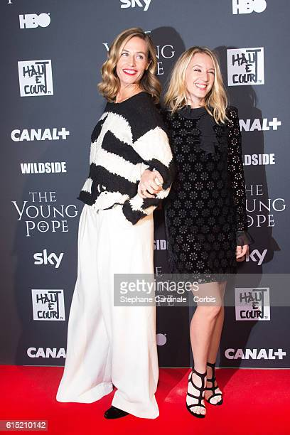 Actresses Cecile de France and Ludivine Sagnier attend the 'The Young Pope' Paris Premiere at La Cinematheque on October 17 2016 in Paris France